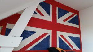Peinture drapeau anglais artisan